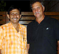 Cricketer Roger with Dr. Khanna