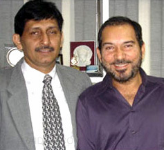 Cricketer Arun Lal with Dr. Khanna