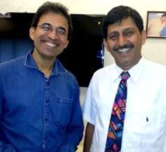 Cricketer Harsha Bhogle with Dr. Khanna