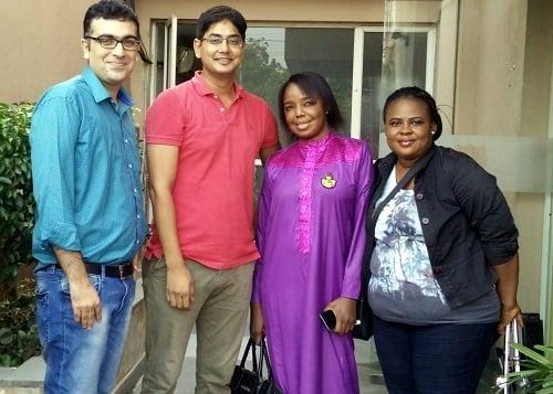Ruby Zufa with Vaidam Health team in India