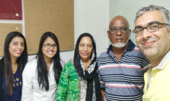 Shareen Begum with Vaidam's team, Fiji, Heart Bypass Surgery in India