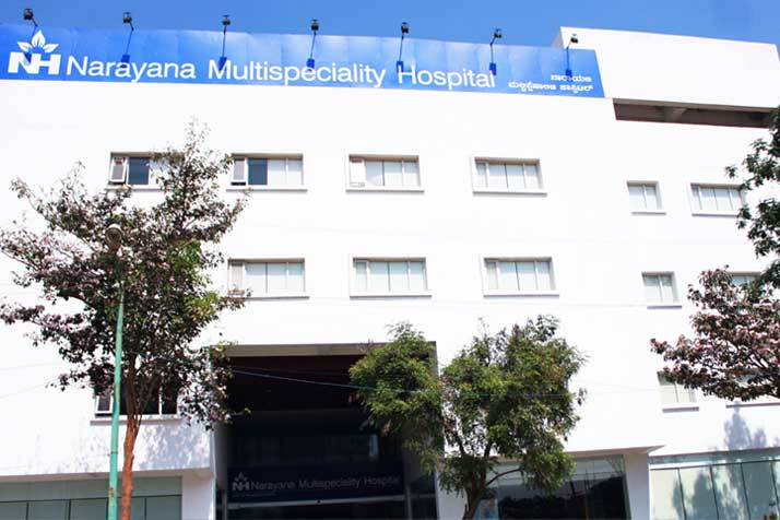Hospitals for Angiography - Narayana Multispecialty Hospital, Bengaluru